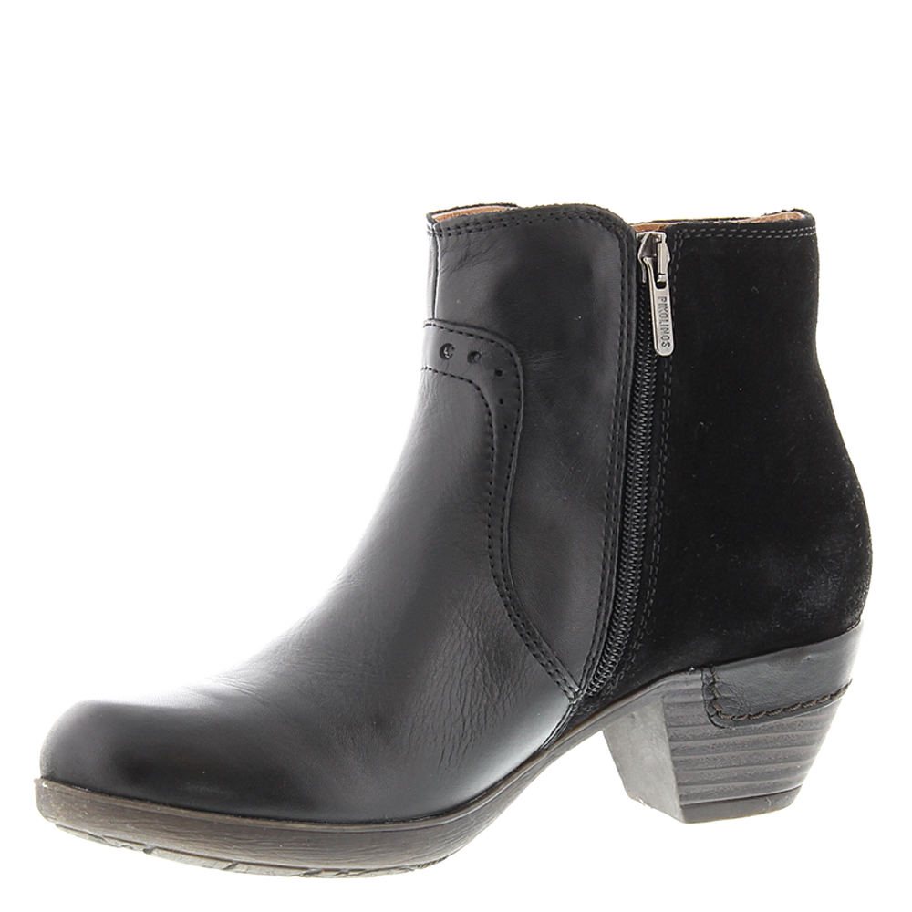 Pikolinos Rotterdam Boot Leather Womens Ankle BOOTS Low Heel Black