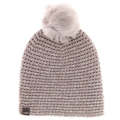 UGG® Women's Crochet Beanie with Toscana Pom