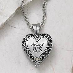 Always in My Heart Memorial Locket - Silver