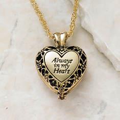 Always in My Heart Memorial Locket - Gold