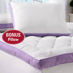 """2"""" Gusset Bed Topper with Bonus Pillow"""