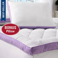 "2"" Gusset Bed Topper with Bonus Pillow"
