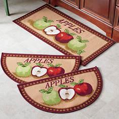 3-Pc. Mat Set - Apples