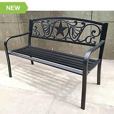Bronze Steel Welcome Bench