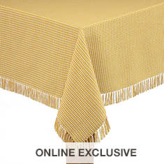 Homespun Table Linen-Round-Natural