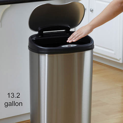 Stainless Steel Trash Can Combo
