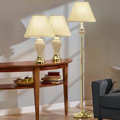 3-Pc. Lamp Set - Cream