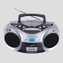 Supersonic® Portable MP3/CD/Cassette Player