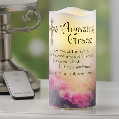 Musical Amazing Grace LED Candle