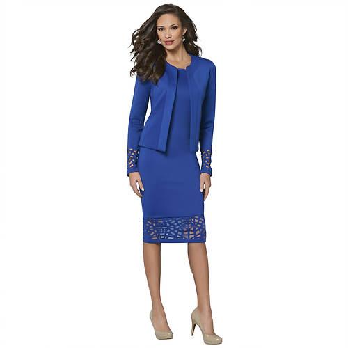 Cutout Sheath Dress & Jacket