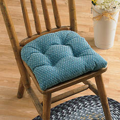 Raindrops Chair Cushions - Wedgewood