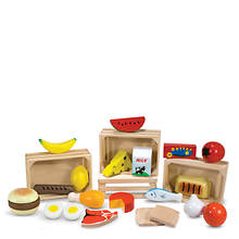 Melissa & Doug Food Groups - Wooden Play Food