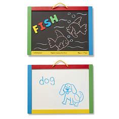 Melissa & Doug Magnetic Chalkboard and Dry-Erase Board