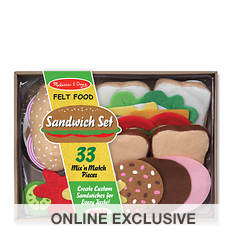 Melissa & Doug Felt Play Food - Sandwich Set