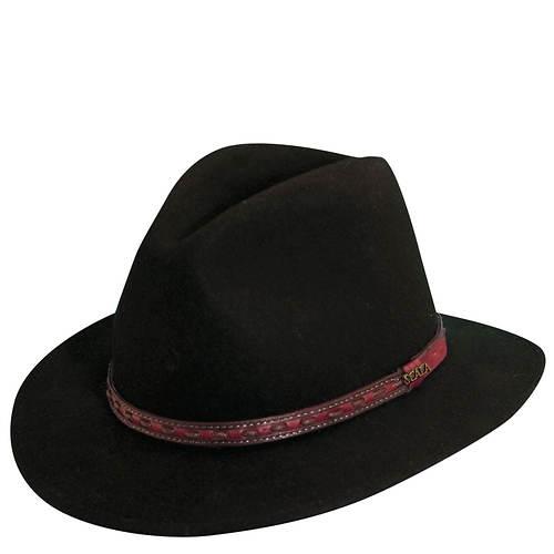 Scala Classico Men's Crushable Safari Leather Band Hat