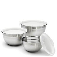 Cuisinart 3-Piece Stainless Steel Mixing Bowls with Lids