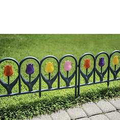 Tulip Border Fence Set - 4 Pack