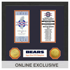Super Bowl Ticket Collection-Bears