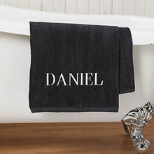 Personalized Bath Sheet-Black