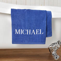 Personalized Bath Sheet-Blue