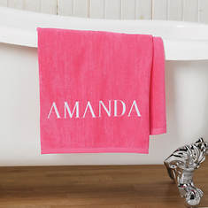 Personalized Bath Sheet-Pink