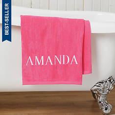 Personalized Bath Sheet-Pink