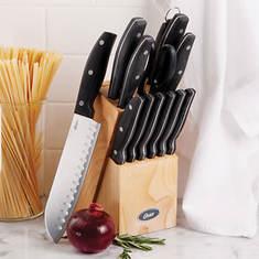 14-PC. Stainless Steel Cutlery Set-Black