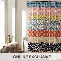 Lush Décor - Bohemian Stripe Shower Curtain