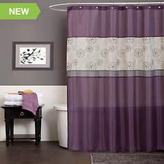 Lush Décor - Covina Purple Shower Curtain