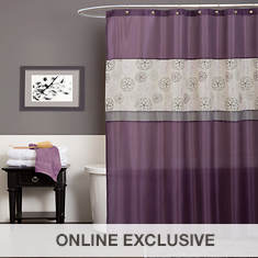Lush Décor - Covina Purple Shower Curtain