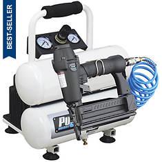 Pulsar™ 2-Gal. Oil-Less Air Compressor with Nailer/Stapler
