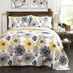 Lush Décor - Leah 3-Piece Quilt Set