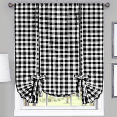 Buffalo Check Tie-Up Shade