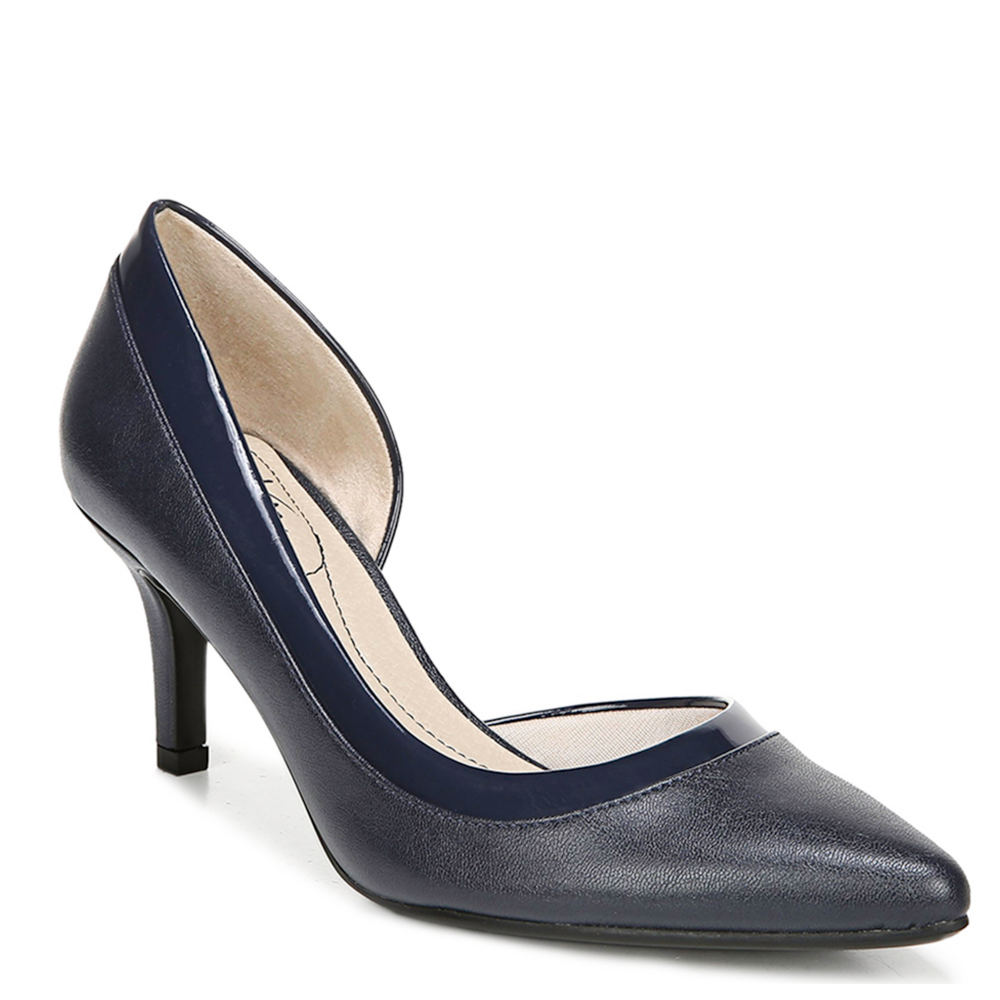 *Feel graceful and gorgeous from the office to cocktails *Faux leather or fabric upper with a pointed toe and d\\\'Orsay silhouette *Soft System® comfort package provides all-day support flex and cushioning *Traction outsole provides extra stability *2-3/8\\\
