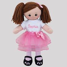 Personalized Brunette Ballerina Doll