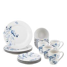 Paula Deen Indigo Blossom 16-Piece Dinner Set