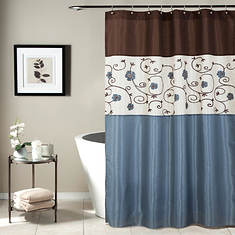 Lush Décor - Royal Garden Shower Curtain