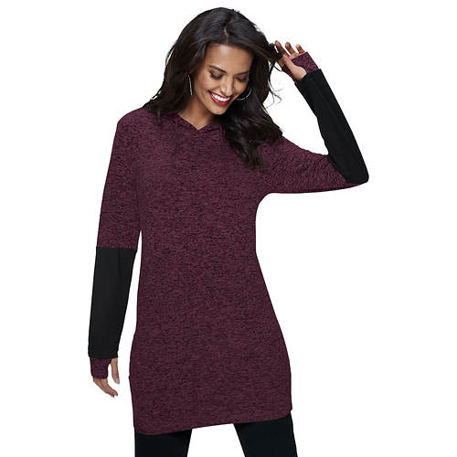 Colorblock Hooded Tunic