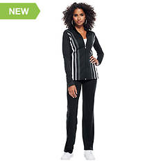 Contrast-Striped Track Suit