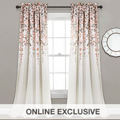 Lush Decor - Weeping Flowers Room Darkening Window Curtains