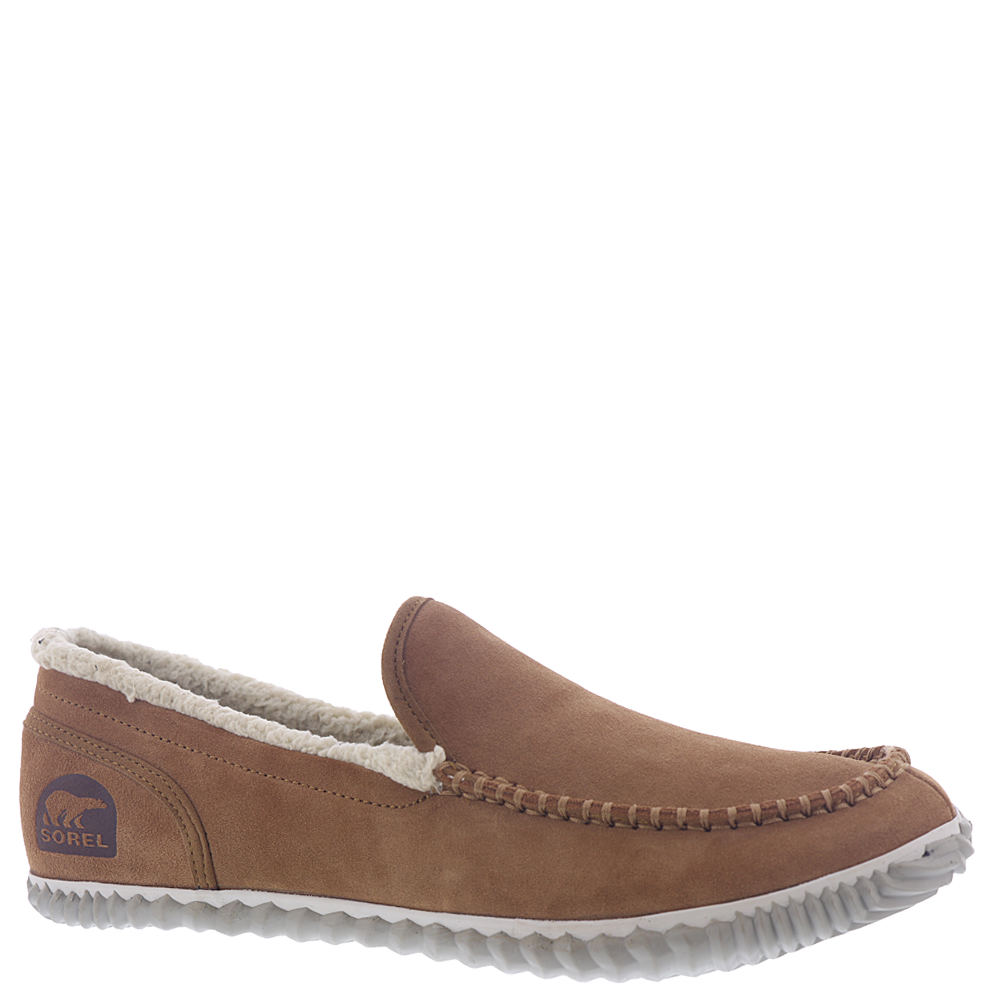 *It\\\'s the ultimate slipper-shoe combo that you\\\'ll want to wear everywhere *Suede leather upper *Easy slip-on styling *Wool/acrylic blend lining *Removable molded EVA footbed with wool/acrylic blend cover *Herringbone-tread rubber sole with improved wet traction
