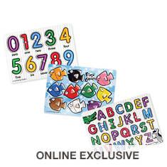 Melissa & Doug 3-Pack Classic Peg Puzzle Bundle