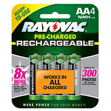Rayovac AA Rechargeable Batteries 4-Pack