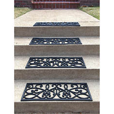 AmeriHome 4-Pack Rubber Scroll Stair Tread