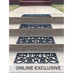 AmeriHome 4-Pack Rubber Scroll Stair Tread