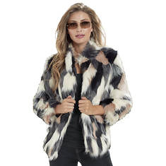 Multi-Color Faux Fur Coat