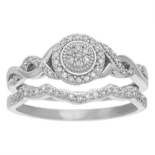 Women's 1/5 ct. tw. Diamond Halo Bridal Set