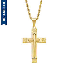 Men's Gold-Plated Cross Necklace