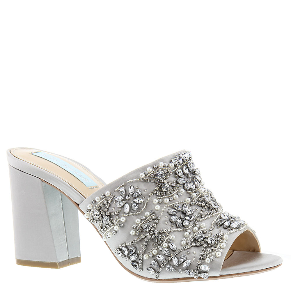 Blue by Betsey Johnson Jaxon Women's Silver Sandal 7.5 M