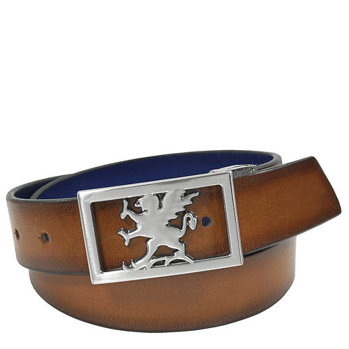 Stacy Adams Kosar 34mm Plaque Buckle Belt
